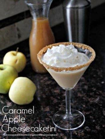 Caramel Apple Cheesecaketini recipe | snappygourmet.com