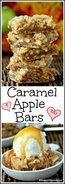 Best Caramel Apple Bars Recipe - easy fall dessert! SnappyGourmet.com