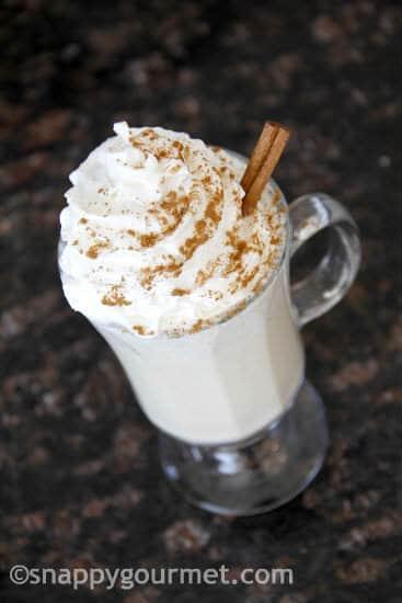 Cinnamon Roll Eggnog Recipe | snappygourmet.com