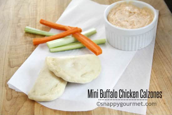 Mini Buffalo Chicken Calzones | snappygourmet.com
