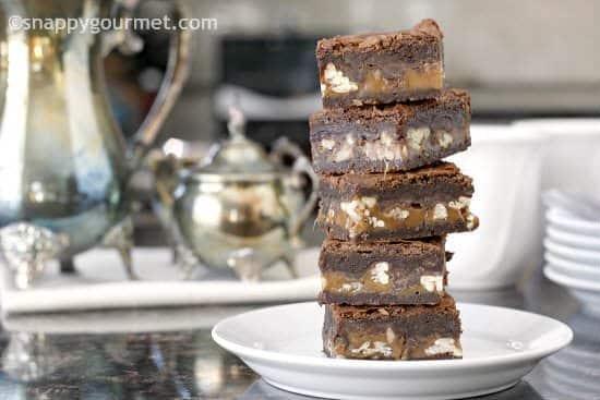 Best Turtle Brownies Recipe   snappygourmet.com