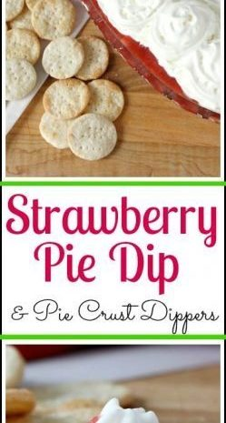 Easy Strawberry Pie Dip & Pie Crust Dippers Recipe | SnappyGourmet.com