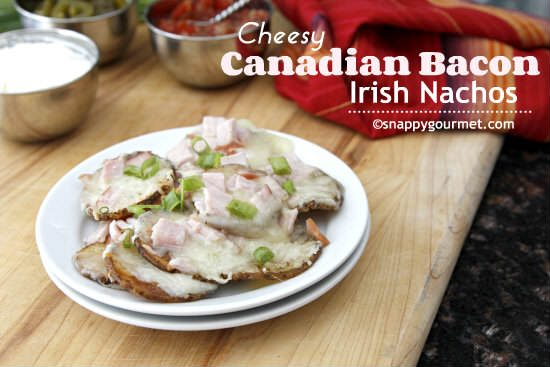 Cheesy Canadian Bacon Irish Nachos