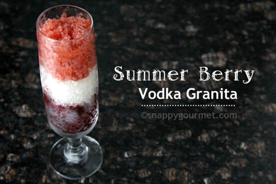 Summer Berry Vodka Granita Recipe | snappygourmet.com