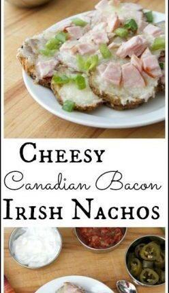 Cheesy Canadian Bacon Irish Nachos Recipe - easy party appetizer recipe | SnappyGourmet.com