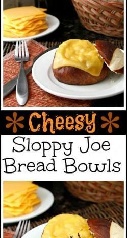 Easy Homemade Cheesy Sloppy Joe Bread Bowls Recipe | SnappyGourmet.com