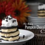 No-Bake Pumpkin Chocolate Chip Cake