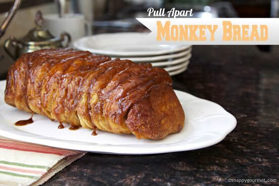 Easy Pull Apart Monkey Bread Recipe | snappygourmet.com