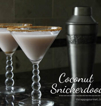 Coconut Snickerdoodletini Holiday Cocktail