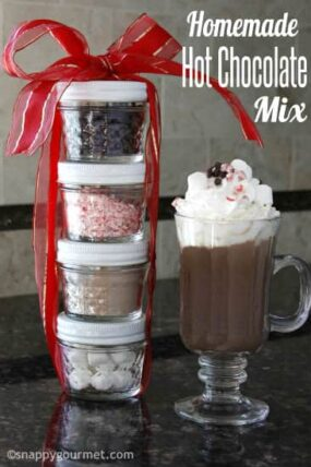 Homemade Hot Chocolate Mix Recipe (gift idea) | snappygourmet.com