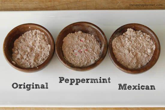 Homemade Hot Chocolate Mix Recipe (3 flavors) | snappygourmet.com