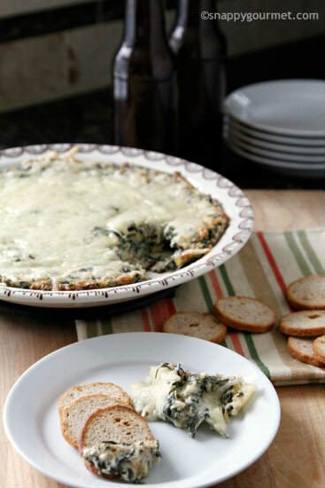 Hot Onion Spinach Dip Recipe | snappygourmet.com