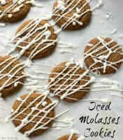 Favorite Christmas Cookies Recipes (Iced Molasses Cookies) | snappygourmet.com