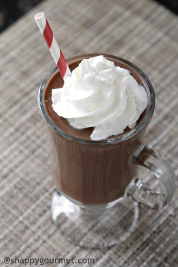 Healthy Chocolate Mockshake Recipe | snappygourmet.com