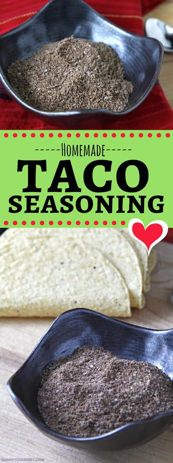 Homemade Taco Seasoning Recipe - DIY taco seasoning to make at home