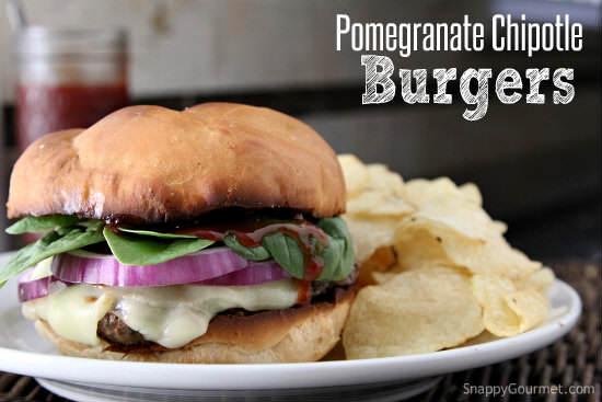 Pomegranate Chipotle Burger