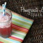 Pomegranate Limeade Sparkler