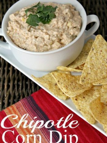 Chipotle Corn Dip Recipe the best spicy corn dip and easy to make with leftover fresh corn , frozen corn, or even canned! SnappyGourmet.com