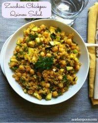 70+ Best Zucchini Recipes (Zucchini Chickpea Quinoa Salad Recipe)   SnappyGourmet.com