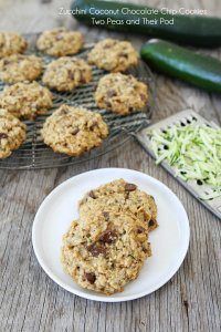 70+ Best Zucchini Recipes (Zucchini Coconut Chocolate Chip Cookies Recipe) | SnappyGourmet.com