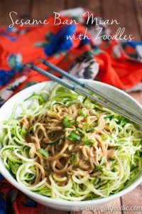 70+ Best Zucchini Recipes (Sesame Ban Mian Zoodles Recipe) | SnappyGourmet.com