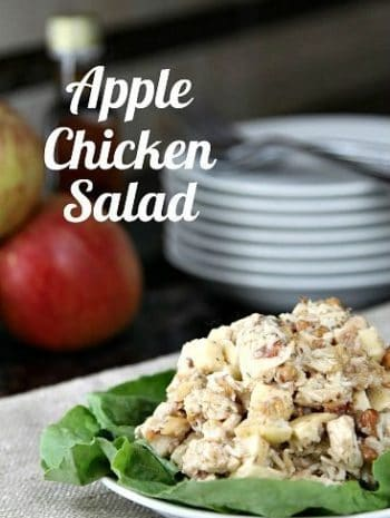Apple Chicken Salad Recipe - an easy and healthy fall dinner or lunch.