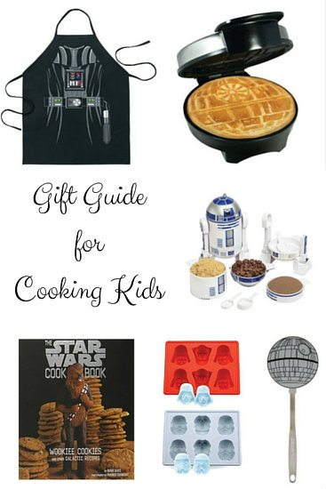 Gift Guide for Cooking Kids - 25+ themed ideas for children who like to cook and bake. The BEST Star Wars, Harry Potter, Princess, Legos, Minecraft, & Minions themed presents! SnappyGourmet.com