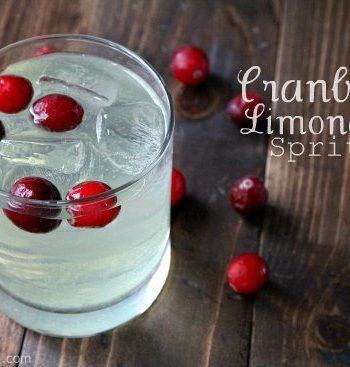 Cranberry Limoncello Spritzer Cocktail Recipe