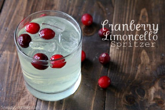 Cranberry Limoncello Spritzer Cocktail Recipe