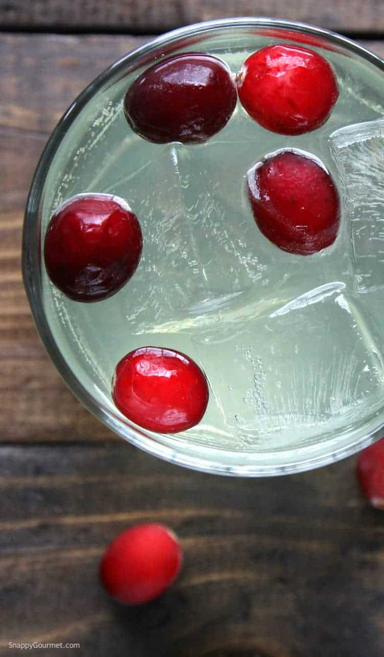 Cranberry Limoncello Spritzer Cocktail Recipe - an easy Italian Spritzer recipe! SnappyGourmet.com
