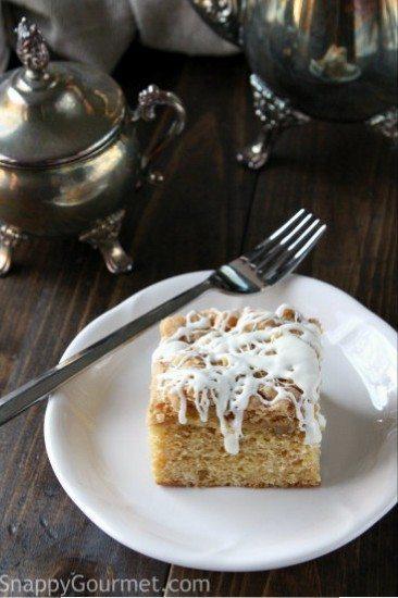 Easy Eggnog Cake - an easy Christmas dessert recipe! SnappyGourmet.com