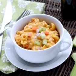 (Slow Cooker) Buffalo Chicken Macaroni & Cheese Recipe