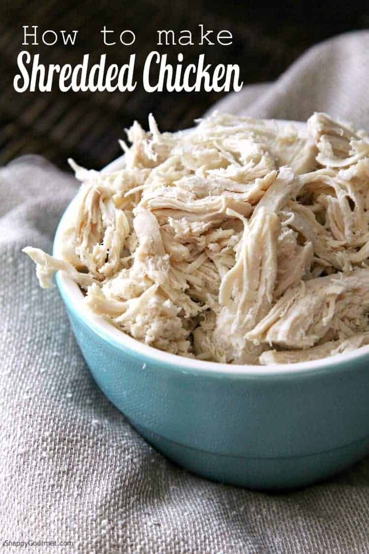 How to make shredded chicken - learn how you make pulled chicken on the stove top. Quick and easy!