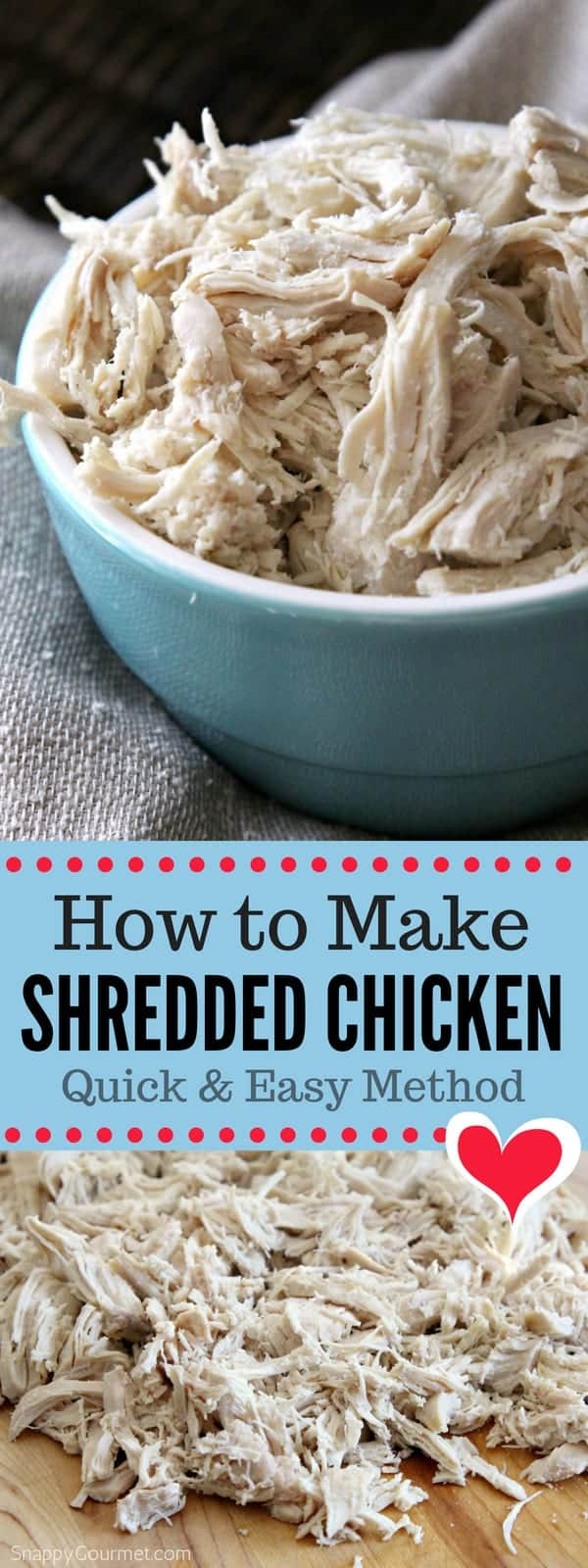 How to make shredded chicken - easy shredded chicken breast recipe