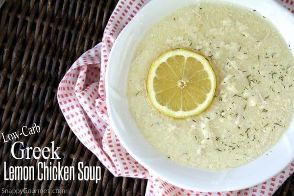 Low-Carb Greek Lemon Chicken Soup Recipe (Avgolemono)