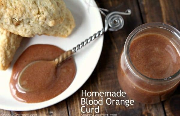 Blood Orange Curd, an easy homemade curd recipe and nice twist on lemon curd. SnappyGourmet.com