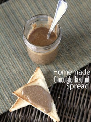 Homemade Chocolate Hazelnut Spread recipe, an easy healthy treat that is also gluten-free, sugar-free, and dairy-free. SnappyGourmet.com