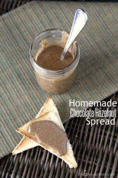 Homemade Chocolate Hazelnut Spread recipe, an easy healthy treat that ...