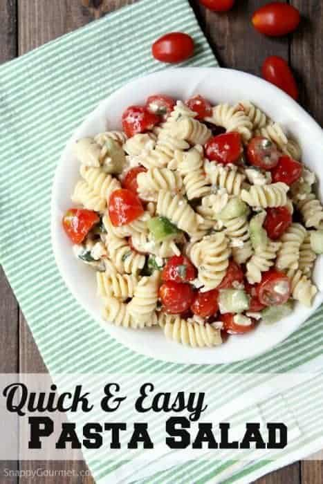 Quick and easy pasta salad recipe with Mediterranean flavors perfect ...