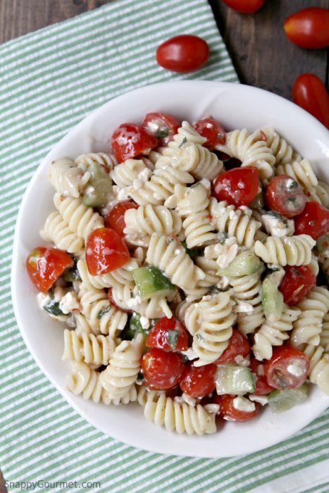 Quick And Easy Pasta Salad Recipe Snappy Gourmet