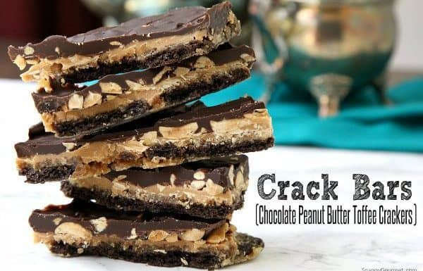 Crack Bars (Chocolate Peanut Butter Toffee Crackers) recipe 1a txt