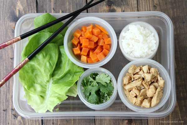 Easy Chicken Lettuce Wraps - quick healthy dinner recipe with an easy teriyaki sauce | SnappyGourmet.com