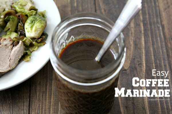 Easy Coffee Marinade Recipe + Giveaway