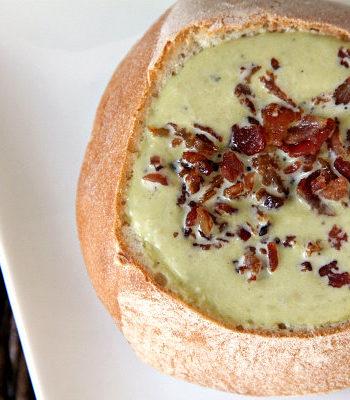 Mini Pea Soup Bread Bowls Recipe