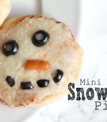 Mini Snowman Pizzas Recipe