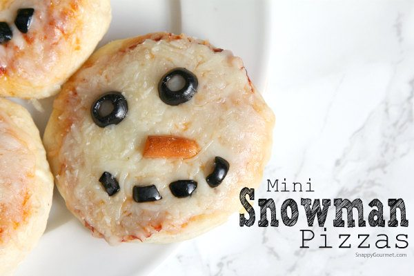 Mini Snowman Pizzas Recipe