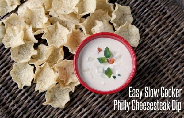 Easy Slow Cooker Philly Cheesesteak Dip | SnappyGourmet.com
