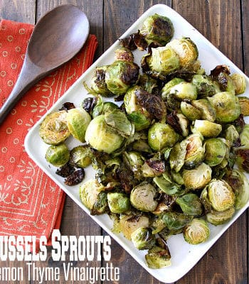 Roasted Brussels Sprouts with Lemon Thyme Vinaigrette Recipe
