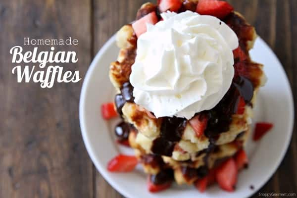 Homemade Belgian Waffles - DIY authentic Belgian Waffles Recipe | SnappyGourmet.com