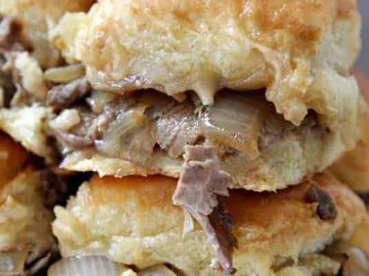 French Onion Roast Beef Sliders Recipe